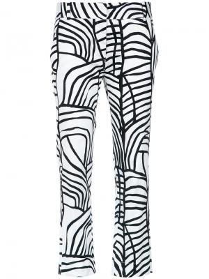 Printed straight-leg trousers Andrea Marques. Цвет: none