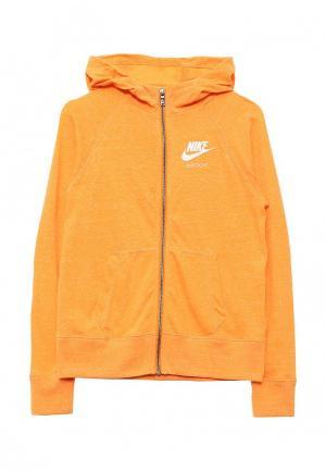 Толстовка Nike. Цвет: оранжевый