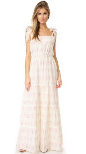 Романтичное Многоярусное платье Summer Morning Athena Procopiou. Цвет: белый