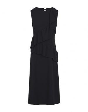 Платье длиной 3/4 GOLD CASE. Цвет: черный