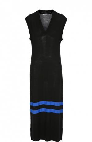 Вязаное платье T by Alexander Wang. Цвет: черный