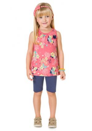 Комплект: майка + шорты KYLY. Цвет: розовый (розовый/синий)