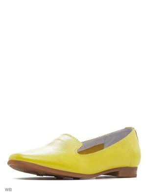 Слиперы HCS. Цвет: желтый
