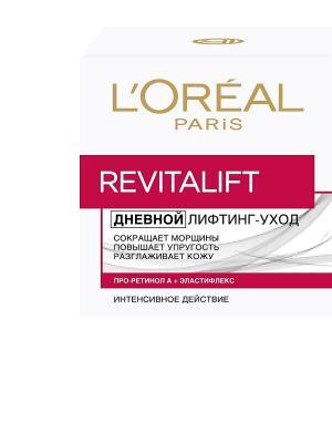 Дневной антивозрастной крем Ревиталифт для лица, против морщин, 50 мл L'Oreal Paris. Цвет: белый, красный