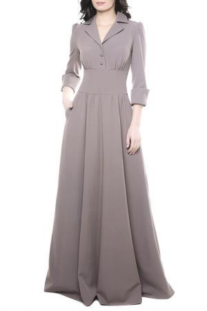 Платье с отложным воротником Olivegrey. Цвет: капучино