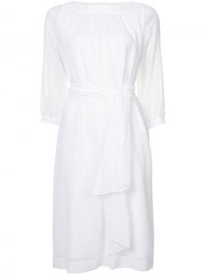 Платье на завязках Vanessa Seward. Цвет: белый