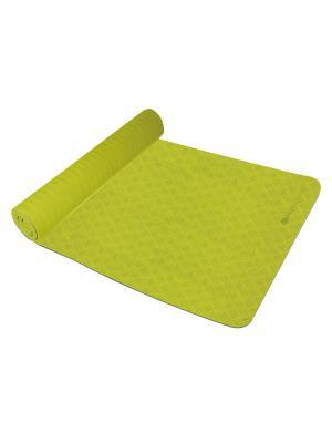 Kоврик для йоги из TPE Ecowellness. Цвет: зеленый