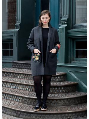Пальто - PARCHES Violeta by Mango. Цвет: темно-серый