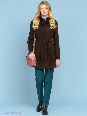 Пальто ARBOR VITAE. Цвет: темно-коричневый