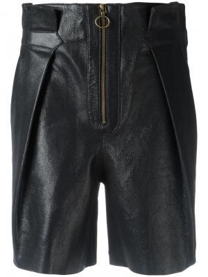 Кожаные шорты Philosophy Di Lorenzo Serafini. Цвет: чёрный