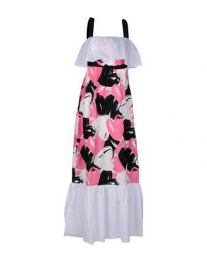Длинное платье LORELLA SIGNORINO. Цвет: белый
