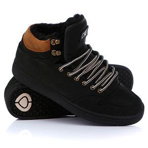 Кеды кроссовки утепленные  Lurker Black/Chipmunk/Fur Circa. Цвет: черный