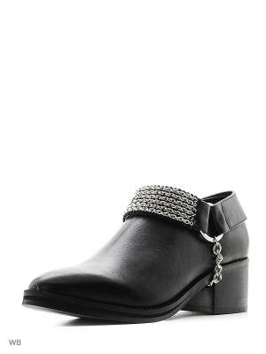 Ботинки EEIGHT. Цвет: черный, серебристый