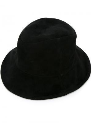 Шляпа мягкой формы с полями Kijima Takayuki. Цвет: чёрный