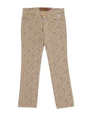 Джинсовые брюки ROŸ ROGER'S. Цвет: бежевый
