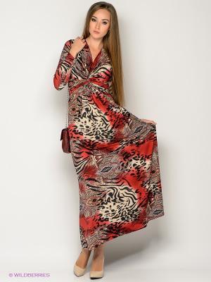 Платье МадаМ Т. Цвет: красный, черный, бежевый
