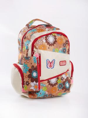 Рюкзак Vittorio Richi. Цвет: бежевый, коричневый
