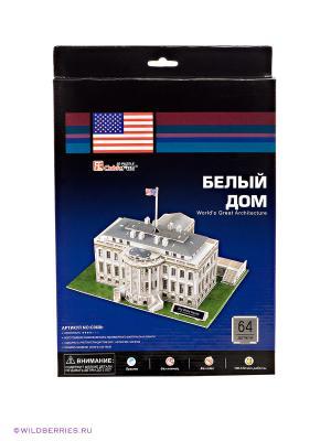 3D пазл Белый дом CubicFun. Цвет: белый, зеленый