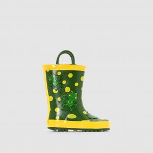 Сапоги резиновые Be Only DAMALTINA. Цвет: рисунок желтый/зеленый