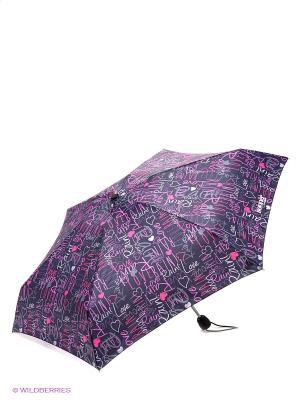 Зонт Isotoner. Цвет: темно-фиолетовый, розовый, серый, сиреневый