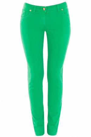 Джинсы Class Cavalli. Цвет: зеленый