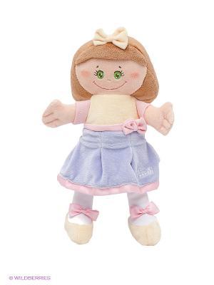 Мягкая кукла в желто-сиреневом платье TRUDI. Цвет: желтый, коричневый, сиреневый