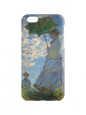 Чехол для iPhone 6 Клод Моне - Дама с зонтиком Арт. IP6-357 Chocopony. Цвет: голубой, зеленый