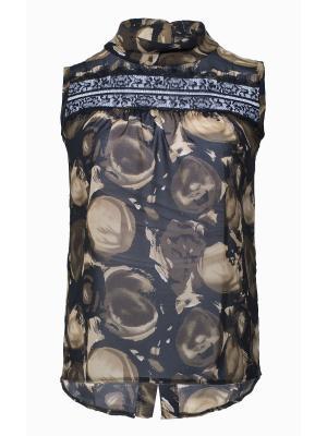 Блузка SPARADA. Цвет: черный, коричневый