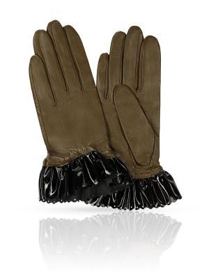 Перчатки MICHEL KATANA`. Цвет: оливковый