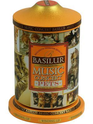 Чёрный цейлонский чай с кусочками манго, ананаса и клубники в Музыкальной шкатулке Любимцы Basilur. Цвет: золотистый