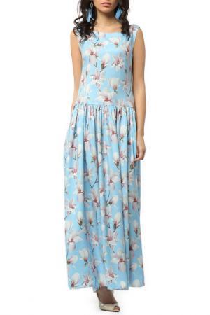 Летнее платье без рукавов Kata Binska. Цвет: голубой