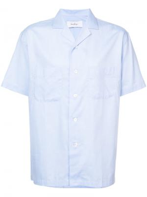 Рубашка в пижамном стиле Second/Layer. Цвет: синий