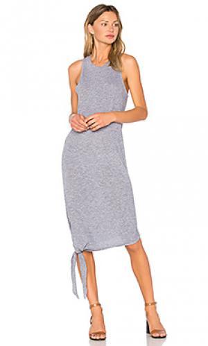 Asymmetrical tie dress Lanston. Цвет: серый