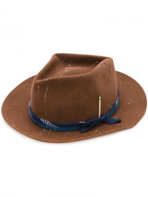 Шляпа с банданой Nick Fouquet. Цвет: коричневый