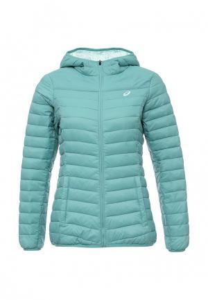 Куртка утепленная ASICS. Цвет: бирюзовый