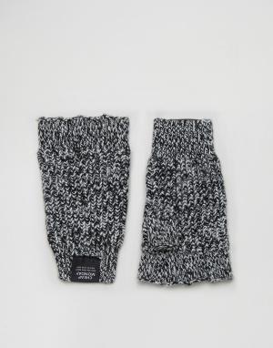 Cheap Monday Перчатки из крученой пряжи без пальцев. Цвет: мульти