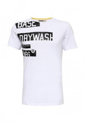 Футболка DRYWASH. Цвет: белый