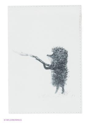 Обложка для автодокументов Ежик с веточкой Mitya Veselkov. Цвет: белый, серый