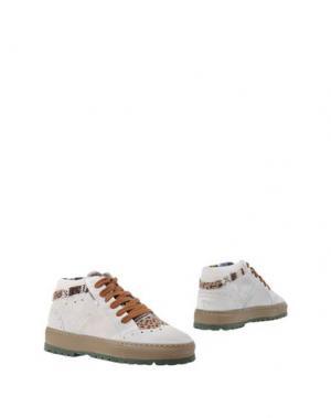 Высокие кеды и кроссовки YAB. Цвет: светло-серый