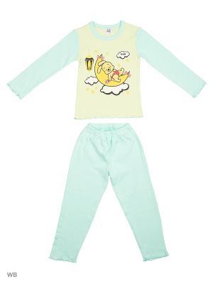 Пижама K&R BABY. Цвет: светло-зеленый, желтый, красный
