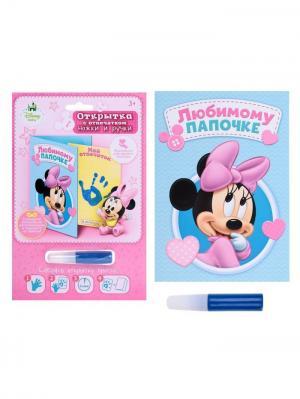 Набор для создания детского отпечатка, Минни Маус Disney. Цвет: черный, розовый, светло-голубой