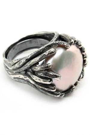 Кольцо Estrosia. Цвет: серый, жемчужный
