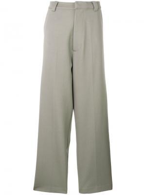 Широкие брюки Erika Cavallini. Цвет: серый