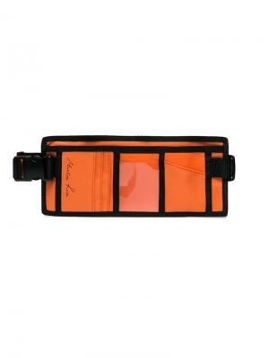 Кошелек на пояс Martine Rose. Цвет: жёлтый и оранжевый
