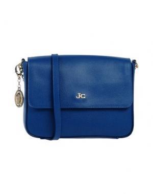 Сумка через плечо J&C JACKYCELINE. Цвет: синий