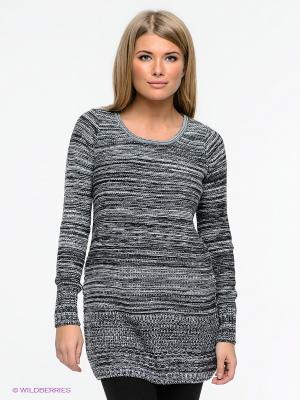 Платье Element. Цвет: серый, белый, черный