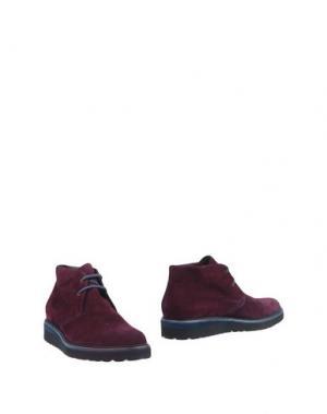 Полусапоги и высокие ботинки BLU|BARRETT by BARRETT. Цвет: баклажанный