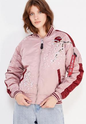 Куртка утепленная Alpha Industries. Цвет: розовый