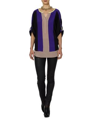 Блузка APART. Цвет: фиолетовый, черный
