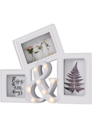 Рамка для фотографий & (белый) bonprix. Цвет: белый